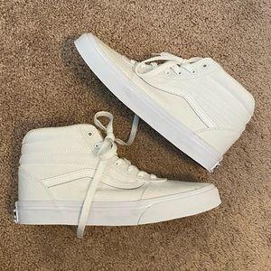 Vans Ward White High Tops size 4